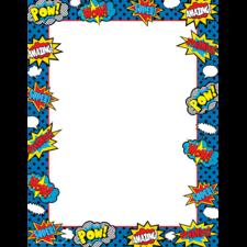 Superhero Computer Paper