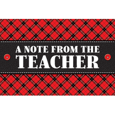 Plaid A Note From the Teacher Postcards