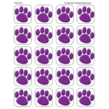 Purple Paw Prints Stickers