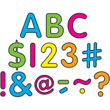 """Neon Brights Classic 2"""" Letters Uppercase Pack"""