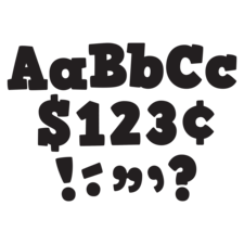 "Black Bold Block 4"" Letters Combo Pack"