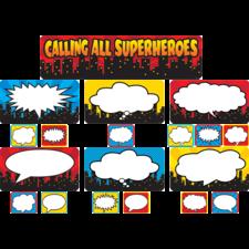 Calling All Superheroes Mini Bulletin Board
