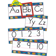 Superhero Alphabet Line Bulletin Board Display Set