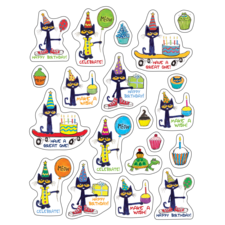 Pete the Cat Happy Birthday Stickers