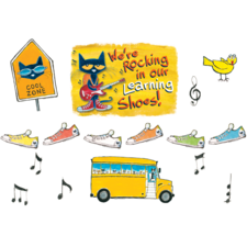 Pete the Cat We're Rocking in Our Learning Shoes Bulletn Brd