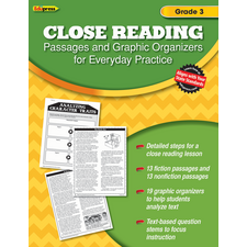 Close Reading Practice Book Grade 3