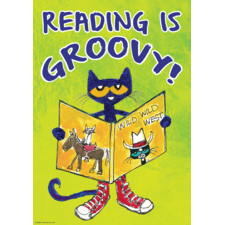 Pete the Cat Reading Is Groovy Positive Poster