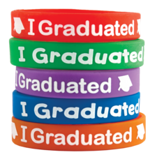 I Graduated Wristbands