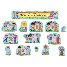 Children's Ten Commandments Bulletin Board Display Set