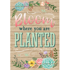 Bloom Where You Are Planted Positive Poster
