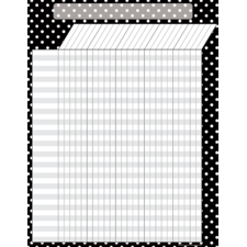 Black Polka Dots Incentive Chart