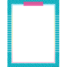 Colorful Vibes Blank Chart
