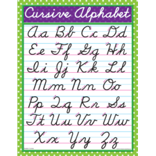 Modern Cursive Chart