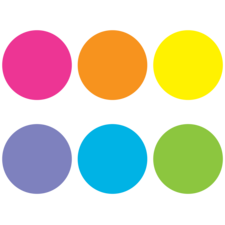 Spot On Bright Circles Carpet Markers - 7""