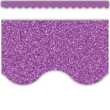 Purple Glitz Scalloped Border Trim