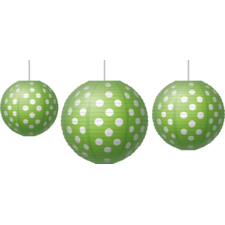 Lime Polka Dots Paper Lanterns