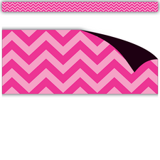 Hot Pink Chevron Magnetic Border