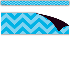 Aqua Chevron Magnetic Strips