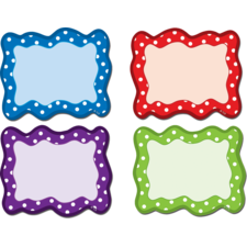 Polka Dots Blank Cards Magnetic Accents