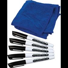 Dry Erase Pens & Microfiber Towels Set