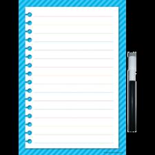 Clingy Thingies Aqua Stripes Small Note Sheet