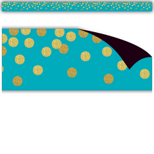 Teal Confetti Magnetic Border