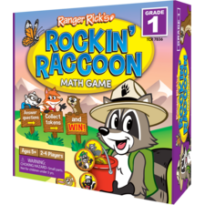 Ranger Rick Rockin' Raccoon Math Game Grade 1