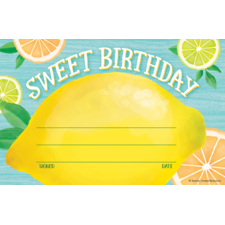 Lemon Zest Sweet Birthday Awards