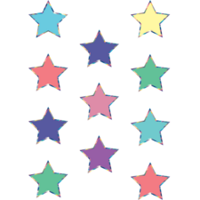 Iridescent Colorful Stars Mini Accents