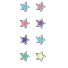 Iridescent Colorful Stars Mini Stickers