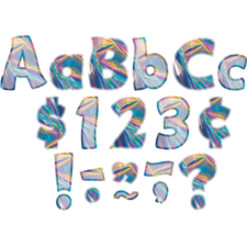 "Iridescent Funtastic 4"" Letters Combo Pack"