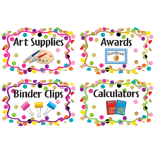 Confetti Supply Labels