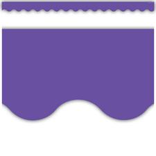 Ultra Purple Scalloped Border Trim