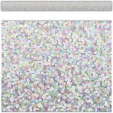Silver Sparkle Straight Border Trim