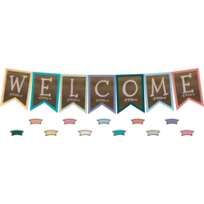Home Sweet Classroom Pennants Welcome Bulletin Board Display Set