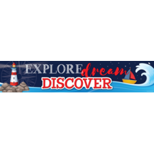 Nautical Explore, Dream, Discover Banner