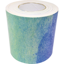 Watercolor Straight Rolled Border Trim