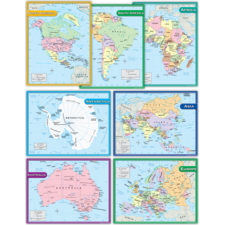 Continents Charts Set (7 charts)