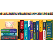 Bookshelf of the Classics Chalkboard Topper