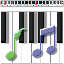 Keys to Music Border Trim