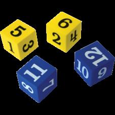 Foam Numbered Dice (numerals 1-12)