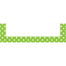 Lime Polka Dots Magnetic Pockets - Small