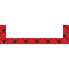 Red Plaid Magnetic Pockets - Small