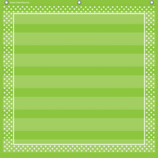 Lime Polka Dots 7 Pocket Chart