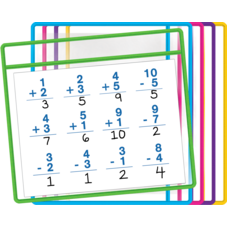 Dry Erase Pockets (5 Colors)