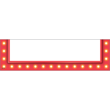 Red Marquee Magnetic Pockets - Small