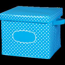 Aqua Polka Dots Storage Box