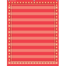 Red Marquee 10 Pocket Chart