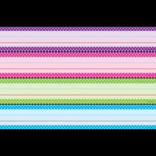 Bright Colors Polka Dots Sentence Strips
