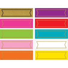 Colorful Gold Shimmer Labels